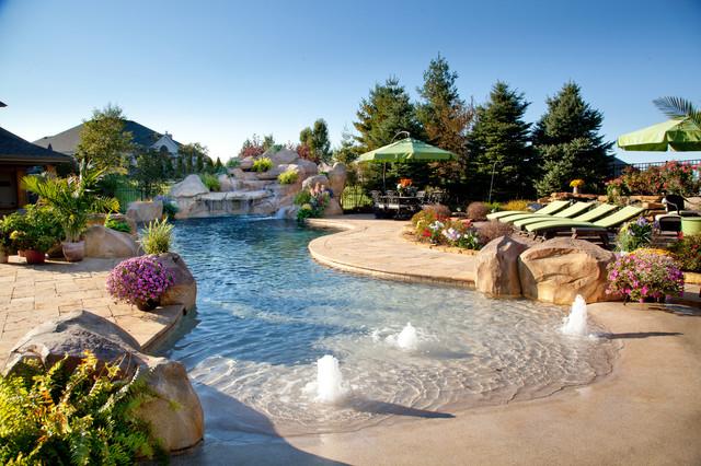 Private estate 10 tropical pool cincinnati by for Tropical pools