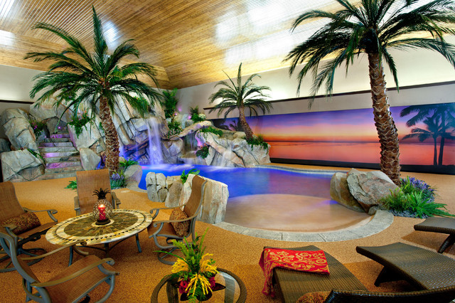 Private Indoor Residence Tropical Pool Cincinnati