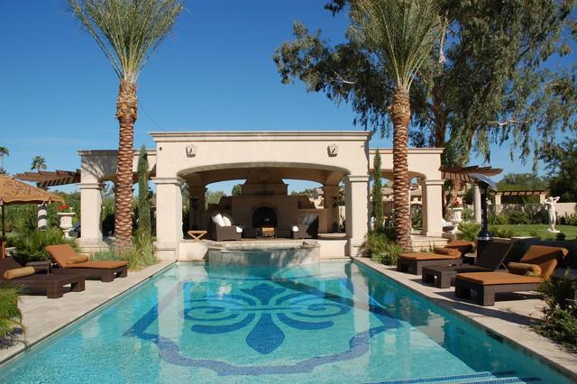 Private Luxury Residence Mediterranean Pool Phoenix