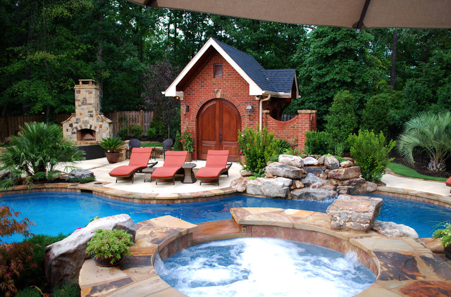 Private residence backyard makeover greenville sc for Backyard makeover with pool