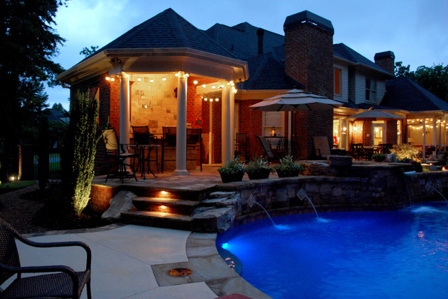 Private Residence Backyard Makeover Greenville, SC  Eclectic  Pool