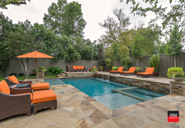 3 room flat design picture ideas - Private Residence Backyard Retreat Traditional Pool