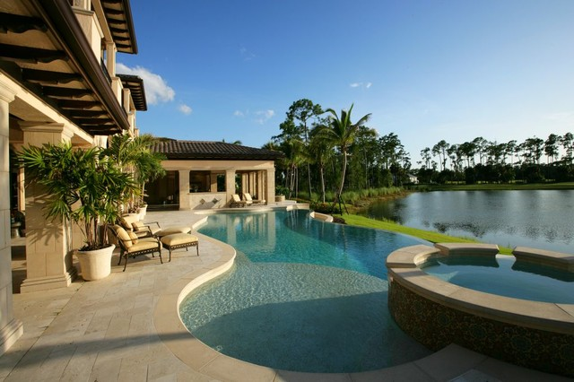 Private residence naples florida mediterranean pool for Florida house plans with pool