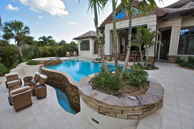 Private Residence Old Naples Florida Tropical Pool