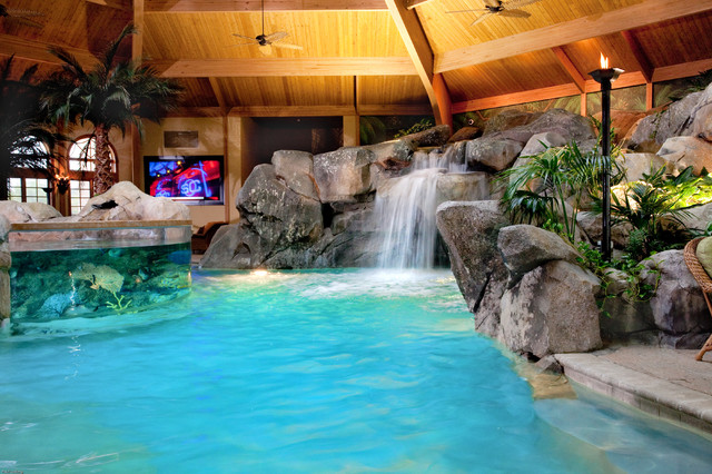 Private residence tropical pool cincinnati by for Private indoor swimming pools