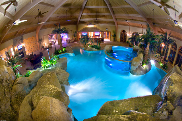 indoor pool bar. Private Residence Tropical-swimming-pool-and-hot-tub Indoor Pool Bar