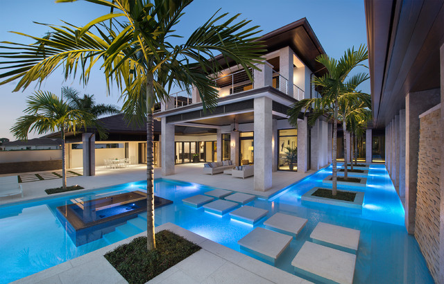 Private residence the estuary naples fl tropical for Pool design naples fl