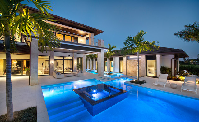 Private residence the estuary naples fl transitional for Pool design naples fl