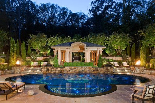 Bon Mediterranean Pool By Chantilly Pools And Spas Lewis Aquatech