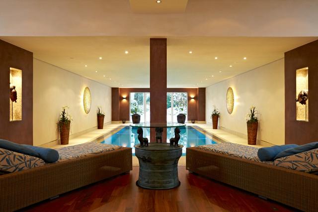 privater wellnessbereich mit pool sauna hamam modern pools m nchen von raumeslust e k. Black Bedroom Furniture Sets. Home Design Ideas