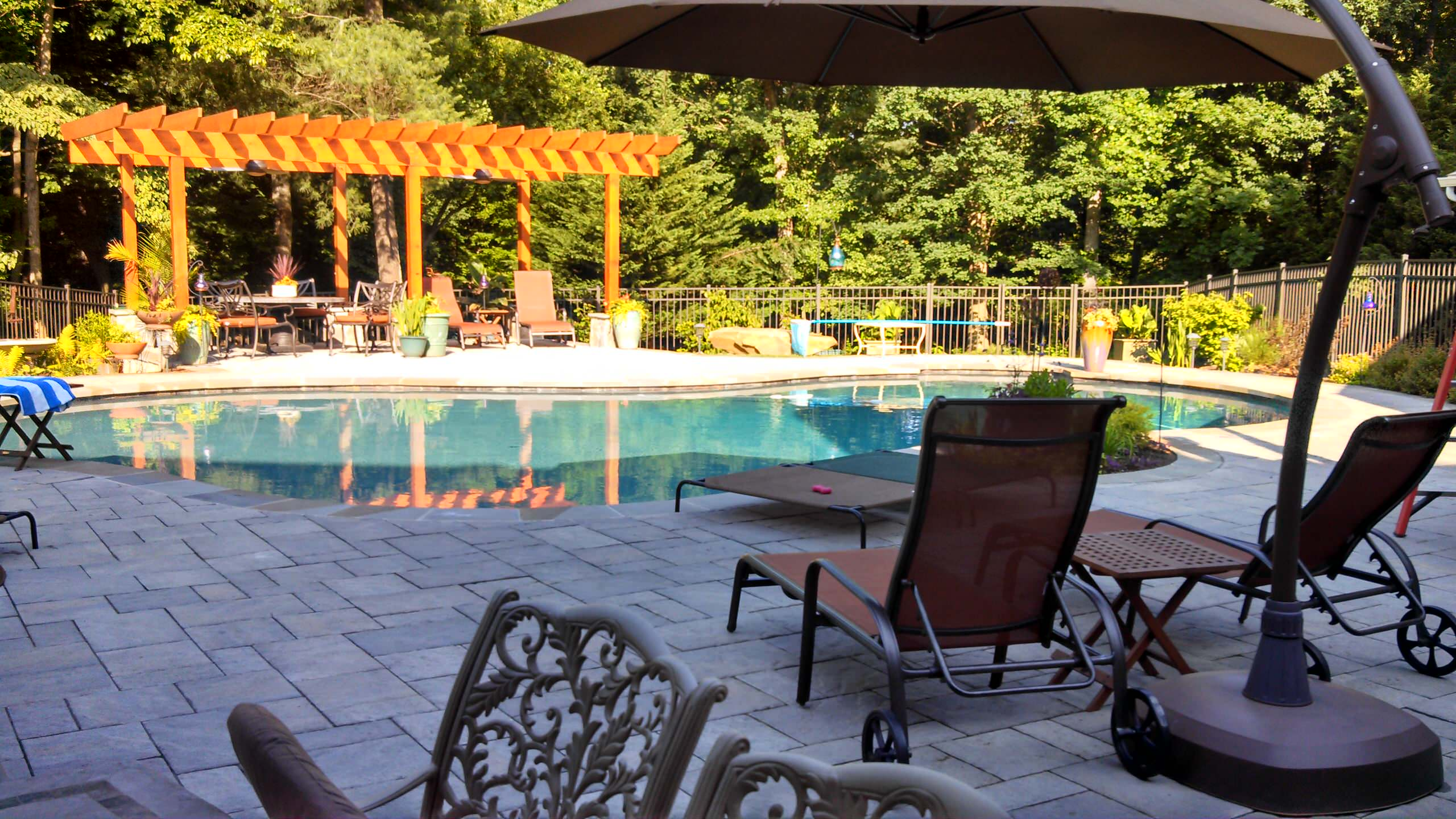 Purcellville Pool, Arbor, Outdoor Kitchen, & Shed