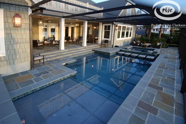 PVB Pool with Bluestone Deck contemporary-pool