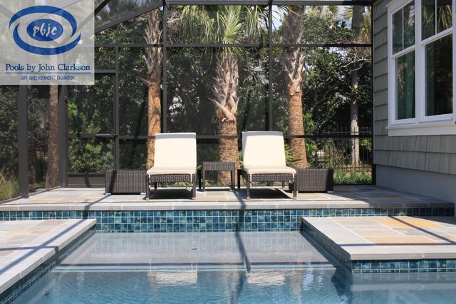 PVB Pool with Bluestone Deck contemporary-pool