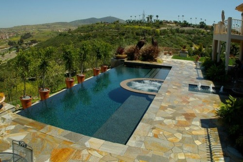 Quartzite natural stone used in swimming pool projects for Pool design knoxville tn