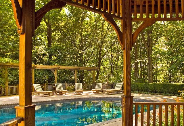 Quiet Retreat traditional-pool
