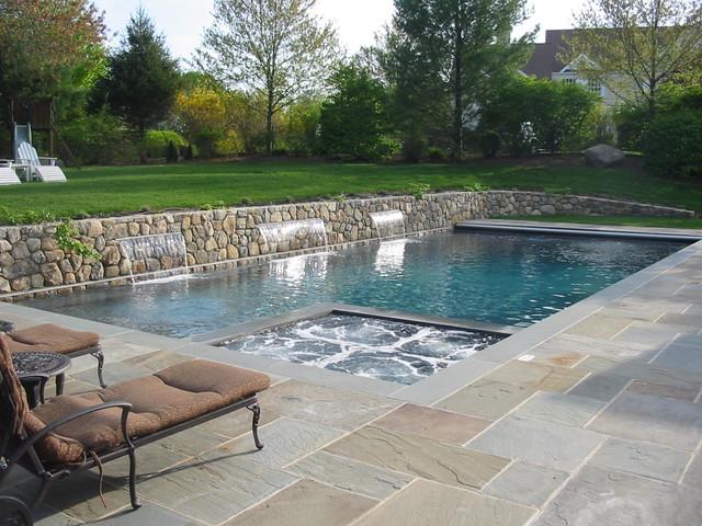 Raised wall for Raised swimming pool designs
