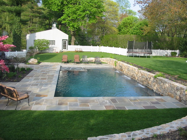 Raised Wall traditional pool