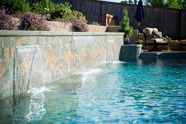 Raised Wall With Sheer Descents Traditional Pool Sacramento By Pool Time Pool Spa