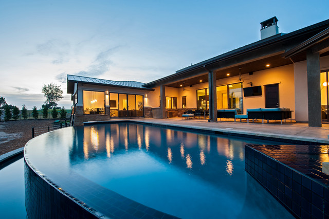 Ranchland Hills Contemporary Custom contemporary-pool