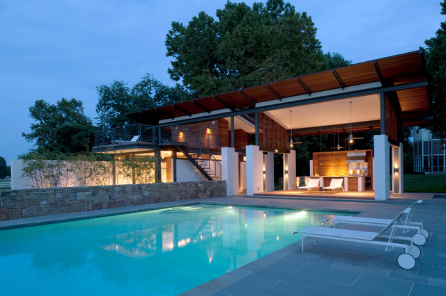 rappahannock bend summer house - modern - pool