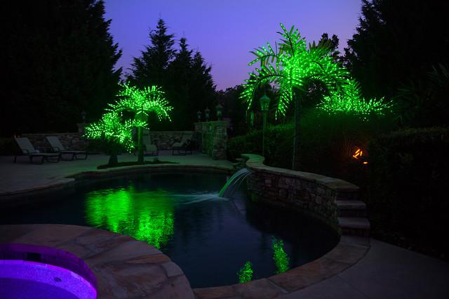 Realistic Led Palm Tree Tropical Pool Atlanta By