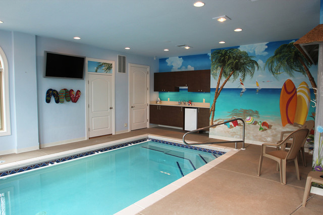 Rec rooms entertaining traditional pool milwaukee for Rec room pools