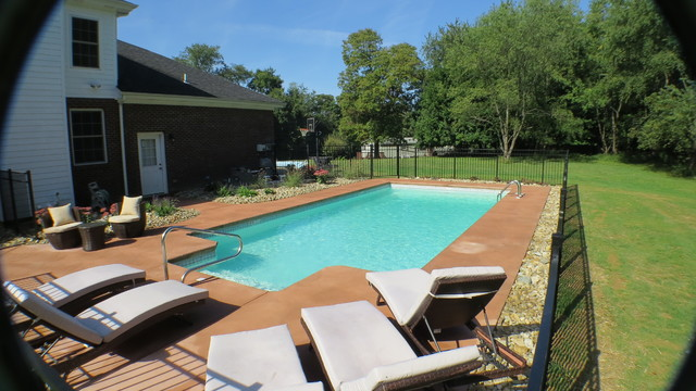 Rectangle pittsburgh pa modern pool other by del for Pool design mcmurray pa
