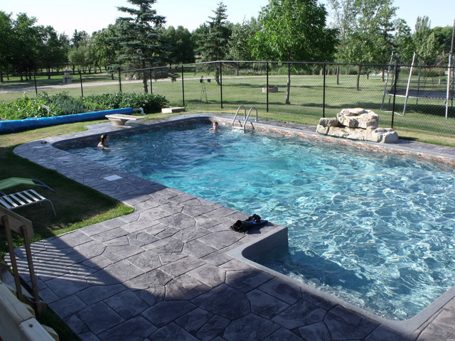 Rectangle pool design tropical pool other by oasis for Pool design questions