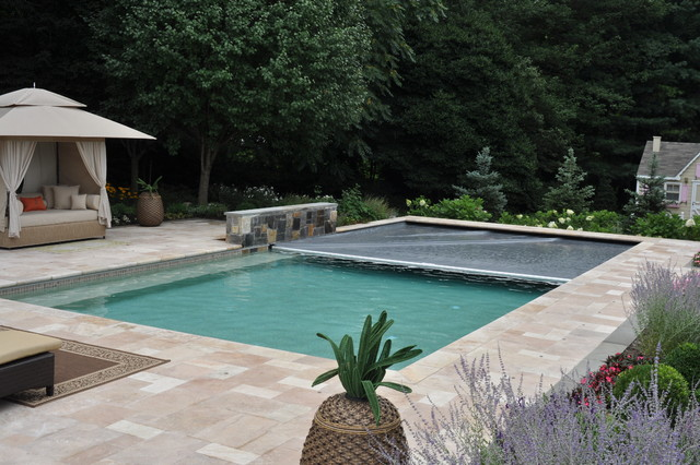 Rectangle with Autocover traditional-pool