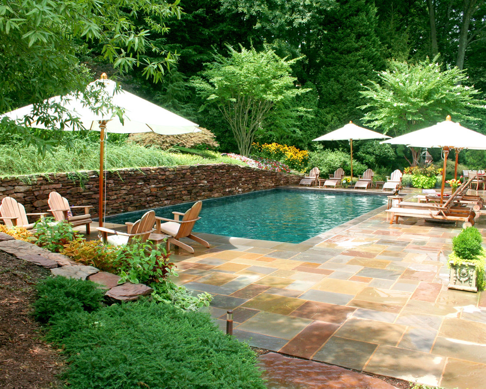 Inspiration for a timeless rectangular pool remodel in DC Metro