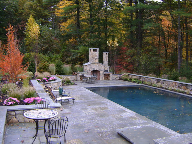 Rectangular Pool W Bluestone Decking