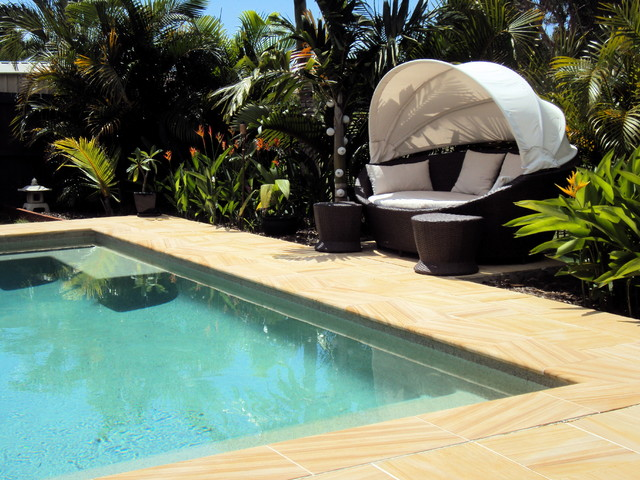 Relax tropical pool
