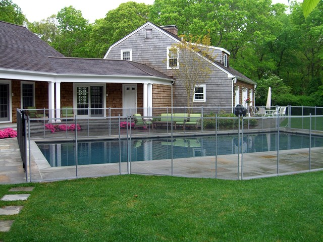 Removable Pool Safety Fence Southampton Ny Traditional New York By Sunrise Custom Fence
