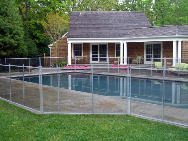 Removable Pool Safety Fence - Southampton, NY - Traditional ...