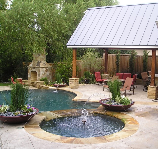 Backyard patio ideas flagstone - Renovation Traditional Pool Dallas By Pool