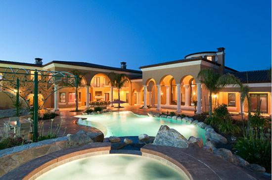 Residence - 8815 Belle Terra Place Granite Bay, CA mediterranean