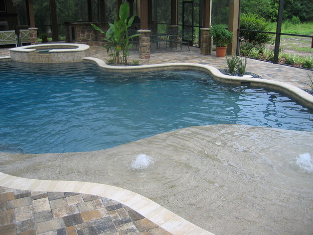 Residence in lutz florida mediterranean pool tampa for Pool design tampa florida
