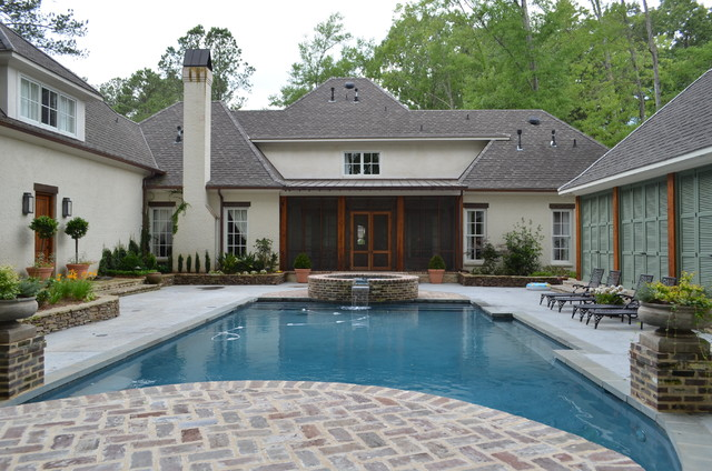 Residence in ridgeland ms for Pool design jackson ms