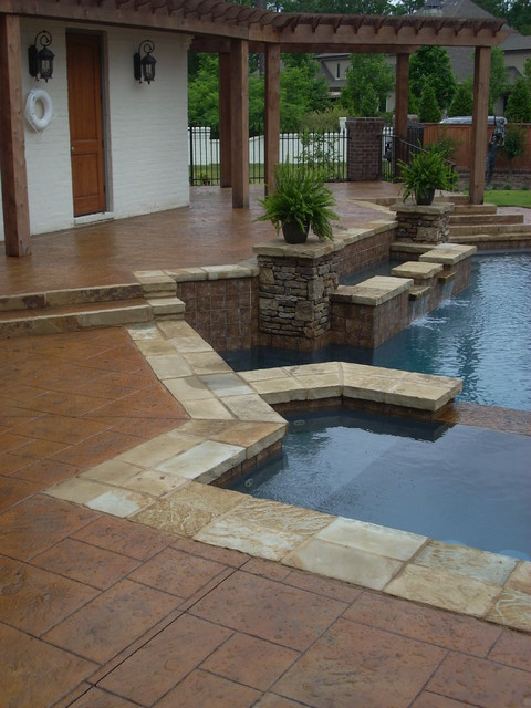 residential concrete flooring modern pool other