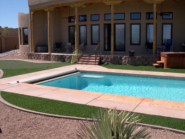 Residential Landscaping Albuquerque : Residential landscape rustic pool albuquerque by foreverlawn