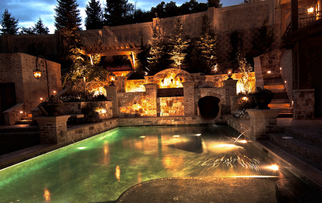 Residential Landscape Lighting Traditional Pool Salt