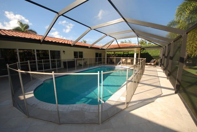 Residential Pool Enclosure Traditional Pool