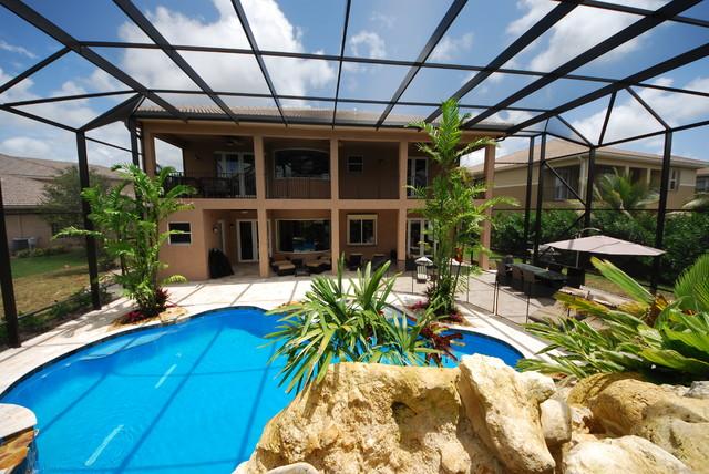 Residential Pool Enclosure Tropical Pool