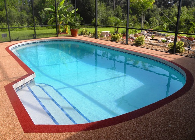 Rubber Swimming Pools : Residential swimming pool rubber deck tampa by