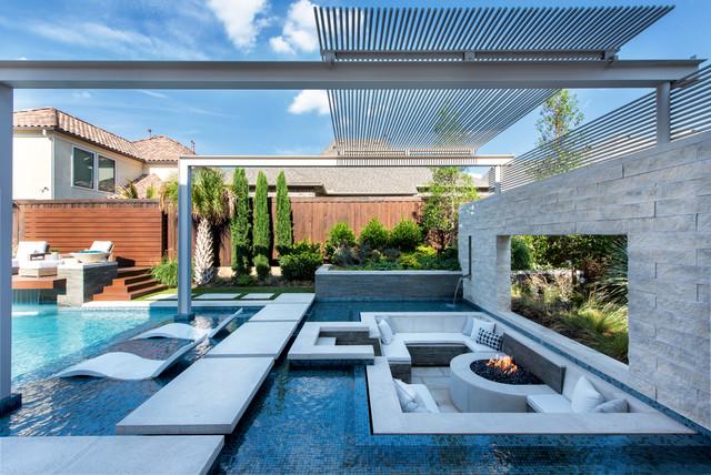 Resort Modern In Frisco Tx Modern Pool Dallas By