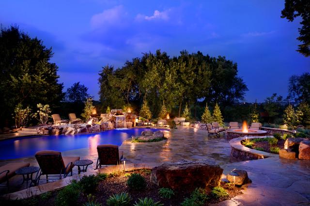 Resort Pool Rustic Pool Kansas City