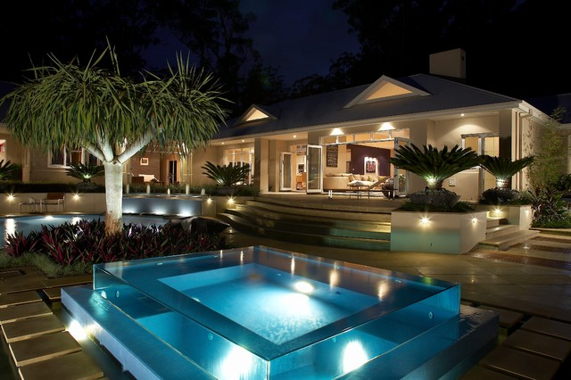 rolling stone landscapes, resort style living - contemporary - pool - sydney - by dean herald, Design ideen