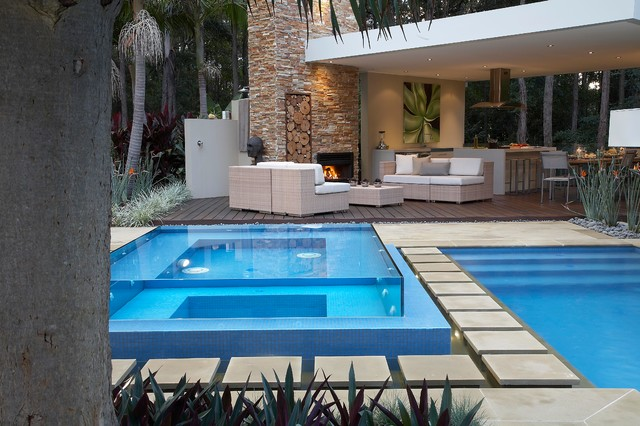 Resort Style Living Contemporary Pool Sydney By