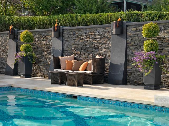 Rhode Island Backyard Pool Deck
