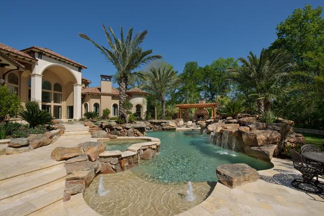 Richmond Estate Mediterranean Pool Houston By